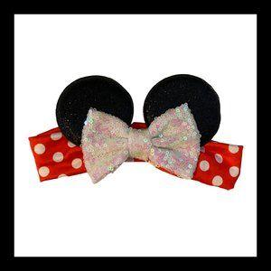 Minnie Mouse Sparkly Bow Headband
